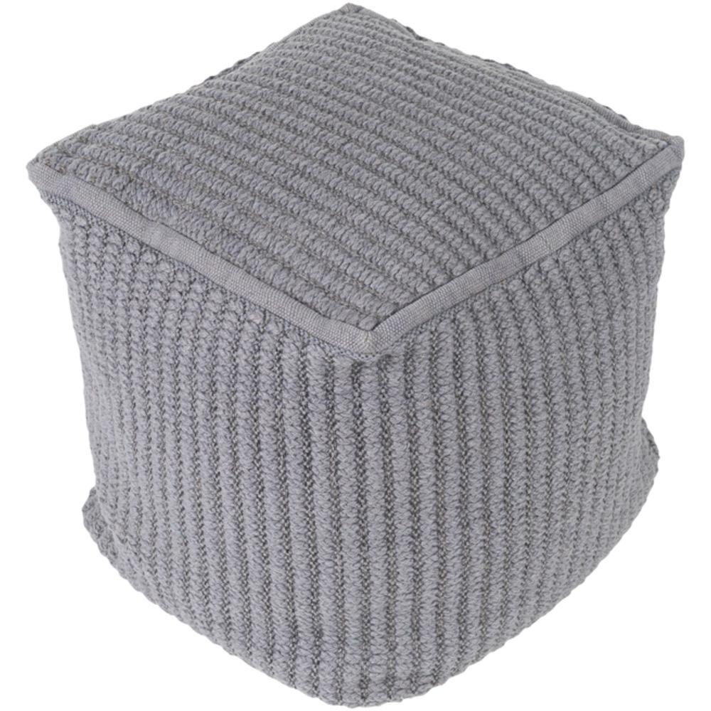 Gray Stafford Pouf by Surya